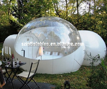 2015 New design inflatable bubble tent with 2 tunnels for camping
