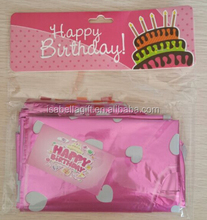 happy birthday foil letter balloon set with head card