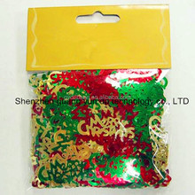 2014 best sell glitter party confetii/glitter pvc confetti with snow flake shape