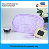 2015 Fashion 6 candy colors lace zipper style cheap small cosmetic mirror, cosmetic bag with mirror