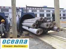 Concrete Pile making Machine DN300-1000mm, Length: 9-15 m, concrete square pile making machine