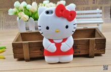 Hote sales hello kitty pattern silicone 3d phone case