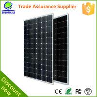 high quality A grade and factory price mono silicon 15W solar panel
