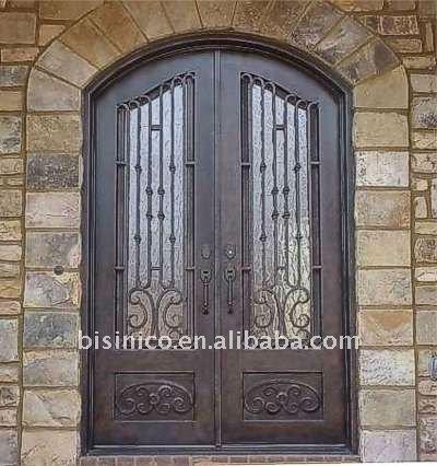 estilo antiguo de metal de doble puerta exterior puertas
