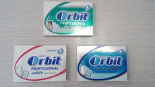 Blister packaged sugar free chewing gum, same as Wrigley chewing gum