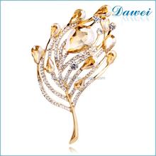 fashion designs leaf crystal stone flower brooch for wedding channel brooch
