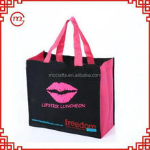 Eco-friendly promotional recycling reusable shopping nonwoven bag