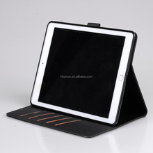 Ultra Slim PU leather case for Apple iPad 6 (with sleep mode function) - Black Cross pattern