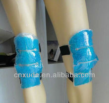 Hot / cold knee wrap filled with gel bead,used for injury during sports