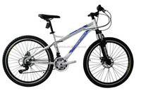 """HOT SALE!!!!High quality competitive price 26""""MTB in steel,full suspension fork"""