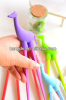 Food grade cartoon animal silicone chopsticks/kitchen ware