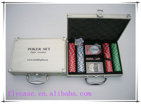 100PCS casino style aluminum case poker chip set with 11.5g suited poker chip
