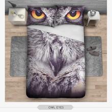 3d digital print pastel owl eye design 3d digital printed bed sheet
