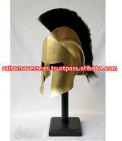 Spartan helmet with plume