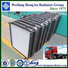 Aluminum truck engine cooling system truck radiator