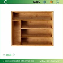 Very simply 5 Slots Bamboo Drawer Organizer Cutlery tray