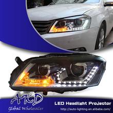 AKD Car Styling VW Passat Headlights New Passat LED Head Lamp Projector Bi Xenon Hid H7