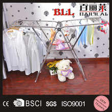 Strong enough heavy duty foldable clothing display stand for bazaar