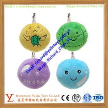 cute stuffed ball shaped mini plush keychain
