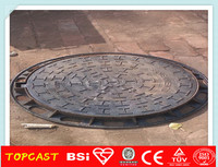 Outside Gas Meter Cast Gray Iron Manhole Cover EN124 for pathway