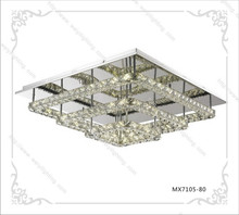3 layers modern led square crystal ceiling light 80W for Germany market
