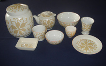 Vietnamese-style ceramic tableware, ceramic kitchenware, ceramic vase, ceramic tea set