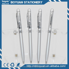 2015 most popular aluminum rhinestone white barrel ball pen