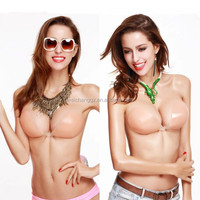 New design push up backless dress adhesive nude silicone strapless bra