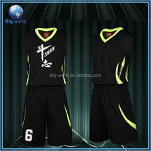 Custom wholesale sublimation basketball jersey /custom basketball uniform design / basketball shorts