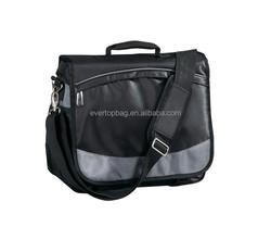 Evertop custom design black laptop trolley bag