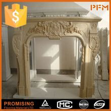natural marble hand made black granite fireplace surround