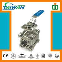 Taiwan Economic Direct Mounting Pad gear operated ball valve, deadman ball valve, brass ball valve copper