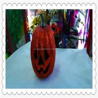 Lighted Halloween hard foam pumpkin 2015