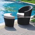 ocio silla de mimbre al aire libre