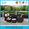 Classic 9 pcs cube set table outdoor dining set rattan cube set