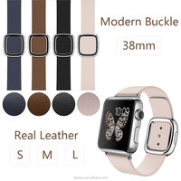 original modern buckle band for apple watch smooth granada leather strap with magnetic closure