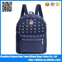 Wholesales good sell lady style color backpack for college