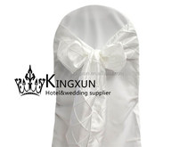 White Taffeta Pintuck Chair Sash Used On Chair Cover