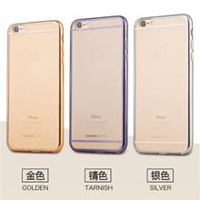 Joyroom Brand electroplate soft TPU cover case for iphone 6 6plus