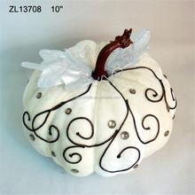 Decorative halloween white craft pumpkins