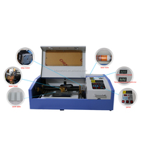 mini portable wood acrylic rubber stamp co2 40w laser engraving cutting machine