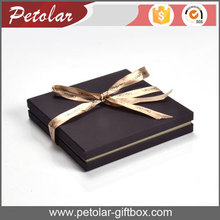 amazing chocolate color jewelry necklace gift box with ribbon