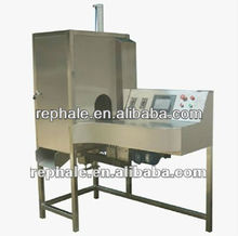fruit processing machine with peeling slicing and cutting