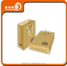 Wholesale Grease Proof Take Away Fast Food Paper Bag With Handles