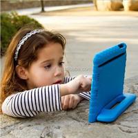 Hot sales Soft EVA Foam Kids Child Proof purple Kickstand Case Cover for iPad 2/3/4