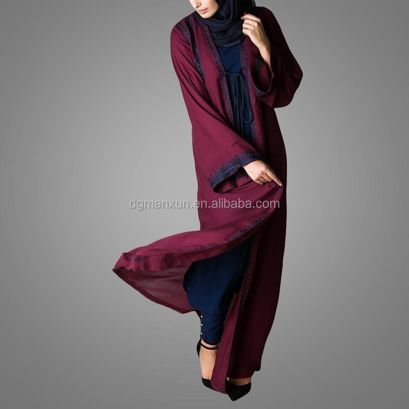 New Burqa Designs In Dubai Photo Long Kimono For Women Tudung Maxi Dress Of Dubai (4).jpg