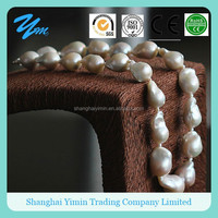 Fashion High Quality Big Nucleated Baroque Natural Pearl Necklace Jewellery
