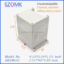 Din rail mounting enclosure for electrical distribution box