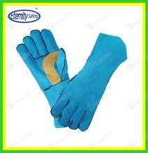"Full sock lined 14""cow leather welding gloves contact for our sample to check glove quality now"