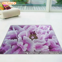 Traditional Chinese flower wool rug and carpet